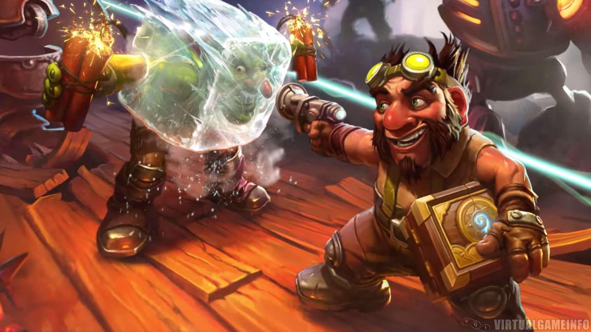 Blizzard сообщила, что в следующем месяце выйдет дополнение к коллекционной карточной игре Hearthstone: Heroes of Warcraft — Goblins vs. Gnomes из 120 новых карт