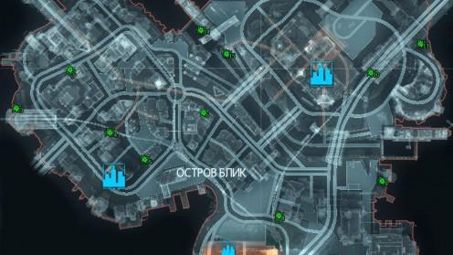 Карта с Разрушаемыми Объектами Риддлера на Острове Блик