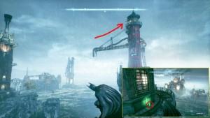 5. На вершине башни Ace Chemical / Химического Завода на небольшом острове с маяком.