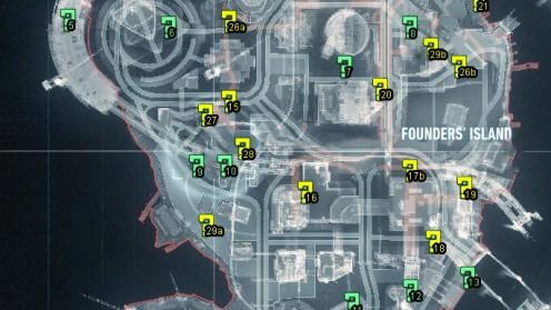 Карта с Трофеями Риддлера на Острове Основателей