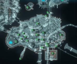 Остров Миагани Карта с Трофеями Риддлера