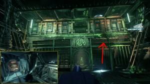 11а. Разрушаемая стена в конце коридора. Блокируйте коробки и наклоняйте корабль так, чтобы освободить вход справа.
