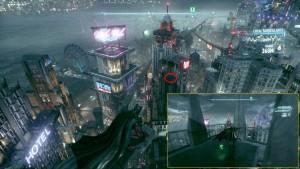 """18. На вершине здания рядом с большим рекламным щитом """"Vicki Vale""""."""