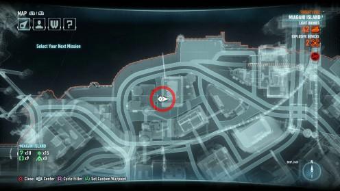 Местонахождение ночного летуна на карте