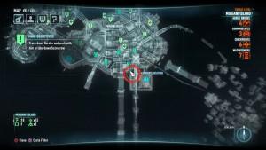 Месторасположение на карте первой жертвы на острове Миагани