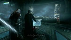 А здесь происходит выбор между убивать Бэтмана или нет.