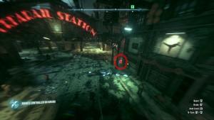 """Месторасположение второй жертвы, рядом с вывеской """"Urbarail Station"""" ."""