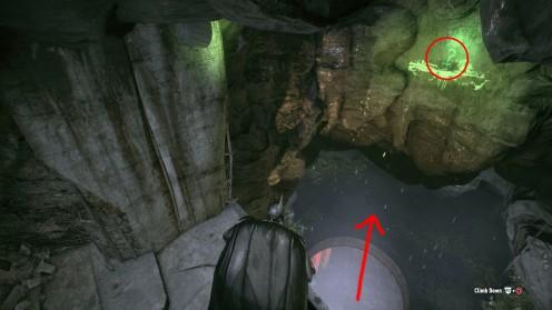 Трофей Риддлера в туннелях Штаб-Квартиры после битвы с боссом