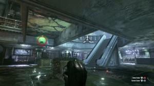 21. На нижнем уровне, на потолке вы найдёте разрушаемую стену, рядом будет висеть трофей.