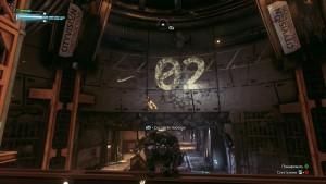 2. Забираемся на металлическую конструкцию, поворачиваемся и замечаем возле цифр 02 дрона паука.