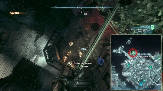 Batman: Arkham Knight Долг Зовёт, местонахождение пожарных остров Блик