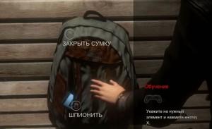 Шпионить или Закрыть сумку?