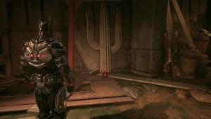 11. Идём в сцену A недалеко от входа вы заметите кактус, перед ним лежит табакерка Квинн. Бэтаранг сделает своё дело.