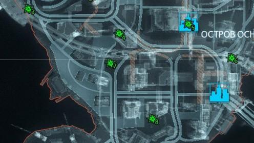 Карта с Разрушаемыфми Объектами Риддлера на Острове Основателей
