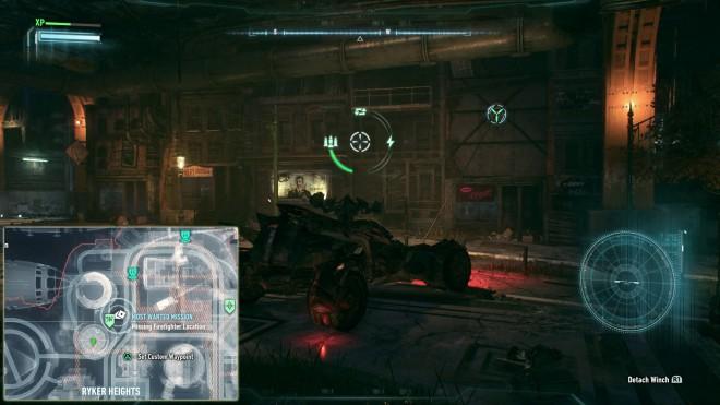 Пропавший Пожарный Скрытое месторасположение Бэтмобиль Batman Arkham Knight остров Основателей
