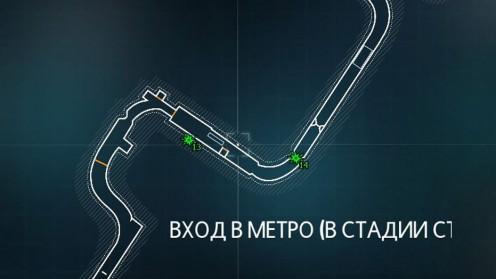 Карта с Разрушаемыми Объектами Риддлера на станции метро
