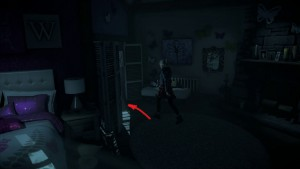 Улика № 6 – Тест на совместимость. Играя за Сэм, в той же комнате Ханны, где вы нашли карту Тату-салона.