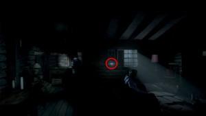 Находим винтовку возле окна.