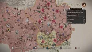 Карта с местоположением минных полей на территории Джита