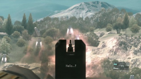 Metal Gear Solid TPP уничтожаем Сахелантропа на вертолёте