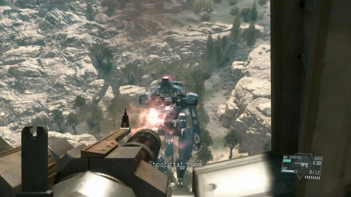 Metal Gear Solid V пулемёт Сахелантроп Дорога в Ад
