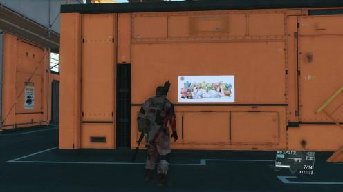 Горизонтальный Плакат Девушки на Главной Базе mgsv