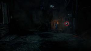 Находим улику в шахтах возле лестнице.