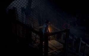 Как только оказываемся на деревянной платформе идём в сторону бочек и там находим Тотем Опасности № 3