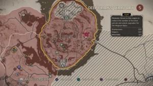 Карта с местоположением минных полей на территории Фритюра
