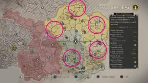 Карта с местоположением конвоев на территории Джита