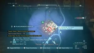Карта с местонахождением третьего предполагаемого места.