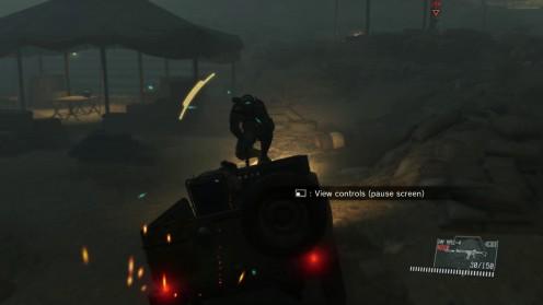 Бегство от черепов на Джипе Metal Gear Solid V