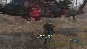 Эвакуируем пацана с помощью вертолёта.