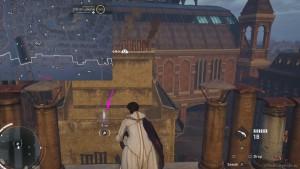Перелетите между зданиями, используя крюк