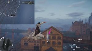 С помощью крюка необходимо перелететь между зданиями