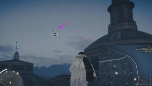 С помощью крюка, перелетите с одной постройки на другую