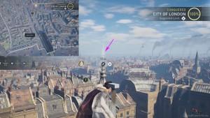 Заберитесь на самый верх высоко здания рядом с точной обзора