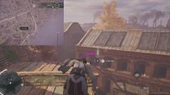 Используя крюк, перелетите между зданиями