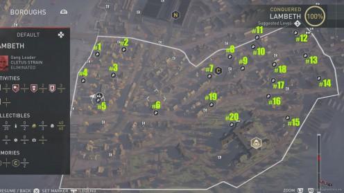 Карта Аномалий Helix / Хеликс в районе Ламбет