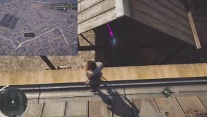 Перепрыгните на крышу амбара и затем спуститесь на его каркас