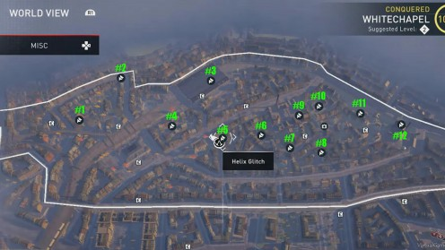 Карта Аномалий Helix / Хеликс в районе Уайтчепел