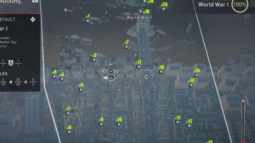 Карта всех Незапертых сундуков Первая Мировая Война часть 1