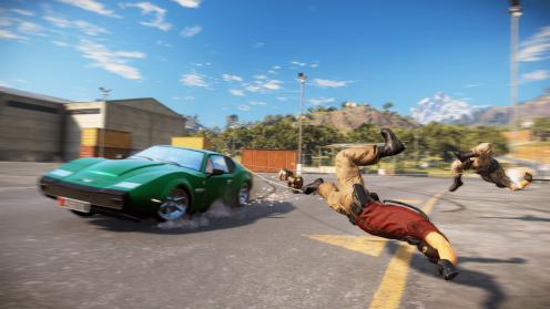 Just Cause 3 геймплей взрывы работает