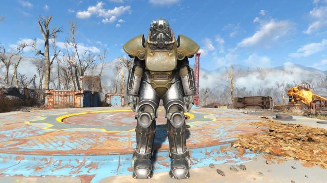 Fallout-4 как выглядит броня т-51