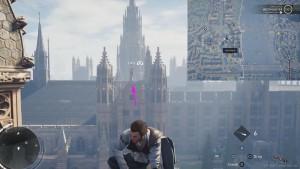 Зацепившись крюком, перелетите через площадь, на здание напротив