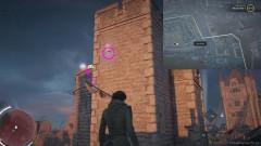 Зацепитесь крюком за указанную точку на башне форта