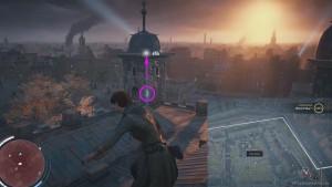 Перелетите с помощью крюка с одной башни главного форта на другую