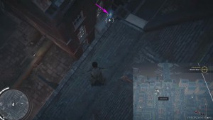 Спрыгните с крыши дома на козырек окна соседней постройки