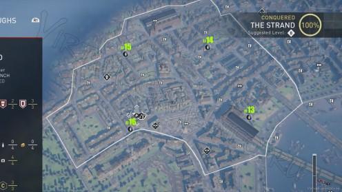Карта всех Старинных Пивных Бутылок в районе Стрэнд
