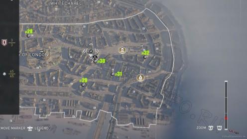 Карта всех Исторических плакатов в районе Сити часть 2